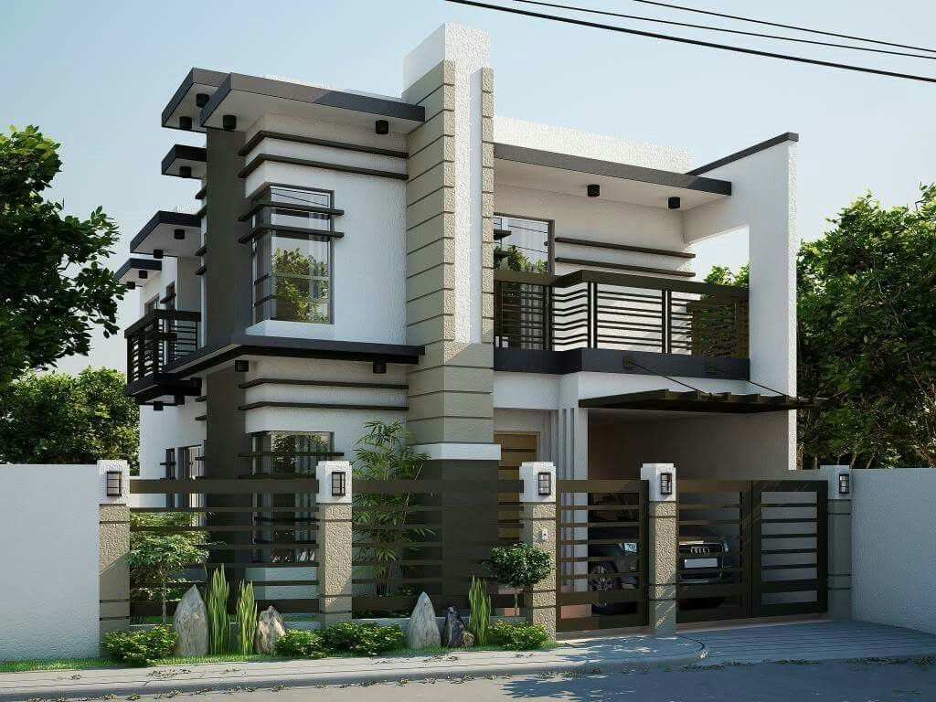 Sophisticate Modern Double Storey House Design  2 Storey House Design Minimalist House Design