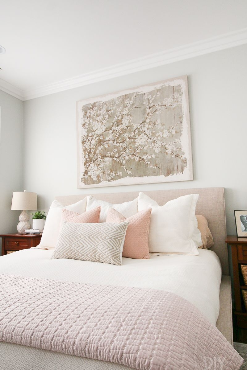 Styling A Blush Bedroom With Feminine Touches  Serene Bedroom Home Bedroom Home Decor Bedroom