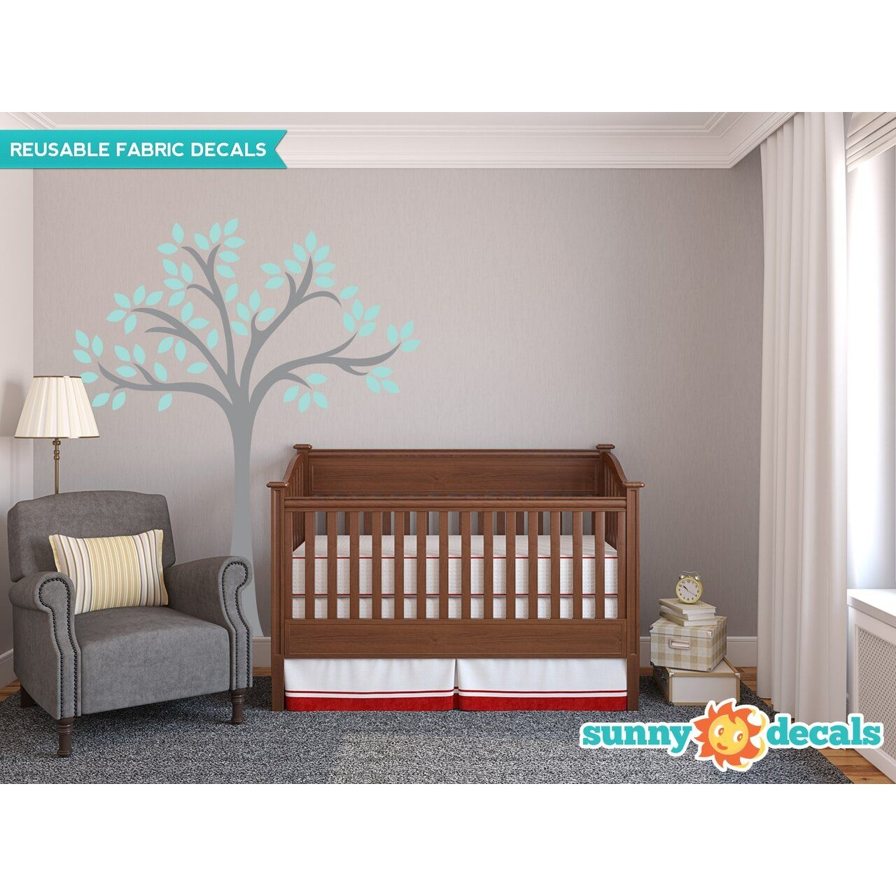 Sunny Decals Beautiful Tree Wall Decal  Wayfair