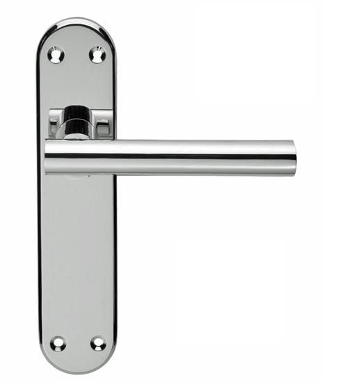 System Lever Door Handles Latch Lock Or Bathroom Furniture Polished Chrome