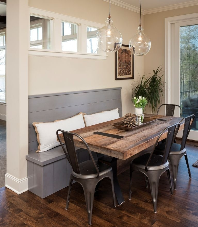 The Tolix Tabouret Chairs Bring A Unique And Timeless Charm To This Breakfast Nook Via Great