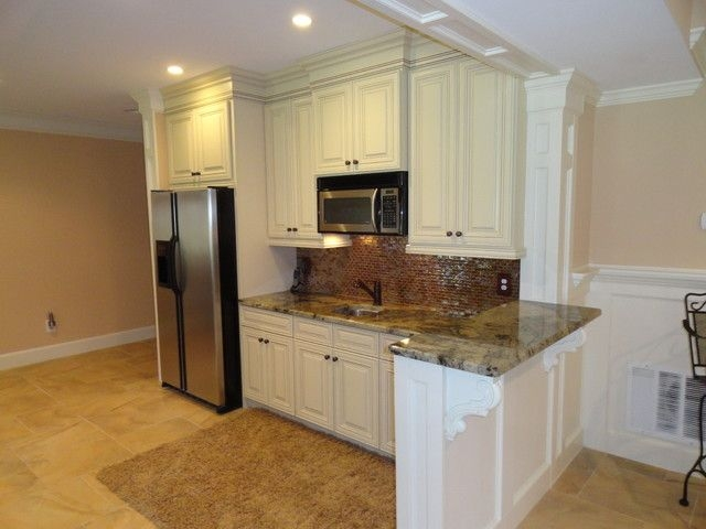 Traditional Basement Kitchen Bar  Traditional  Basement  Atlanta Acworth Cabinet Inc