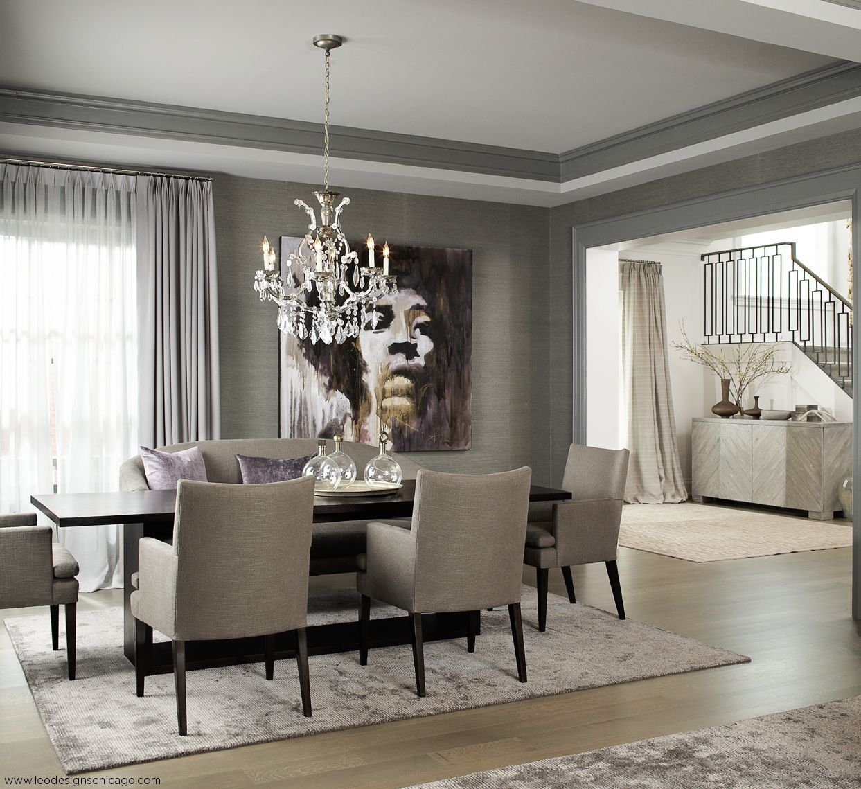 Transitional Interior Designleo Designs Chicago  Dining Room  Beautiful Dining Rooms