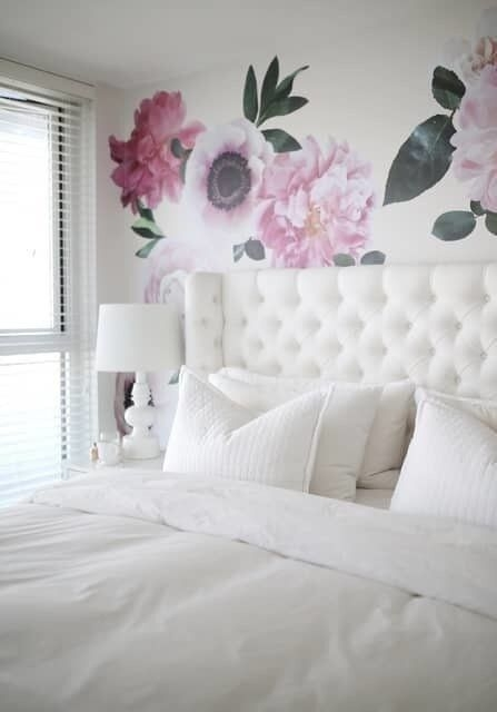 Urban Walls Garden Flowers Wall Decal  Wayfair In 2020  Pink Bedroom Decor Shabby Chic