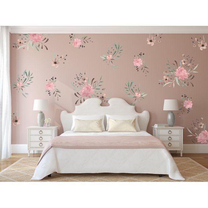 Urban Walls Watercolor Flowers Wall Decal  Wayfair With Images  Bedroom Furnishings Fitted