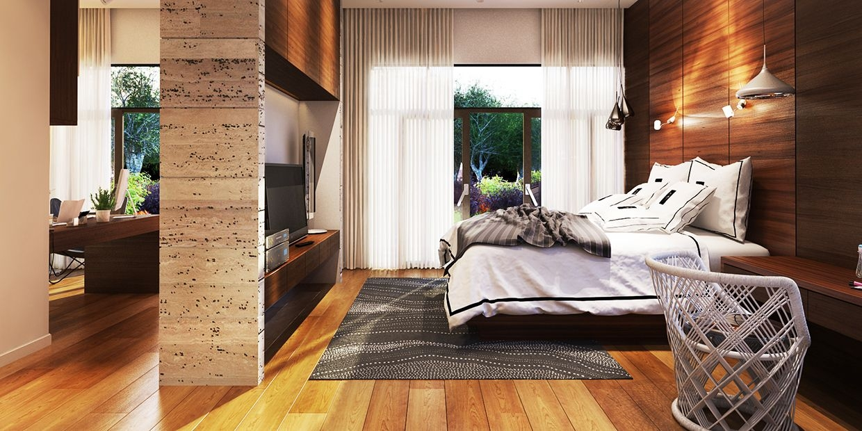 Variety Of Minimalist Bedroom Designs Look So Trendy With Wooden Accent Decor  Roohome
