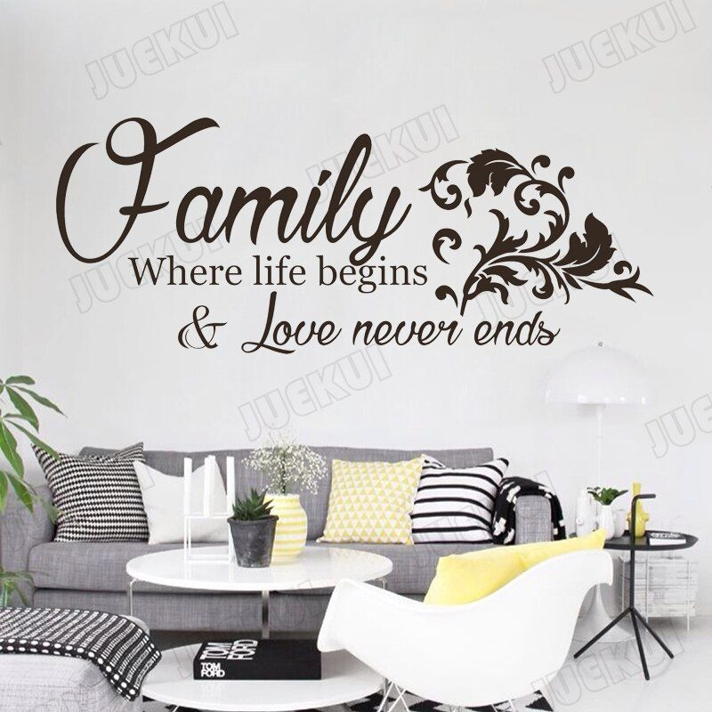 Vinyl Wall Stickers Family Quotes Wall Decor Decals Bedroom Living Room Wall Art Muurstickers