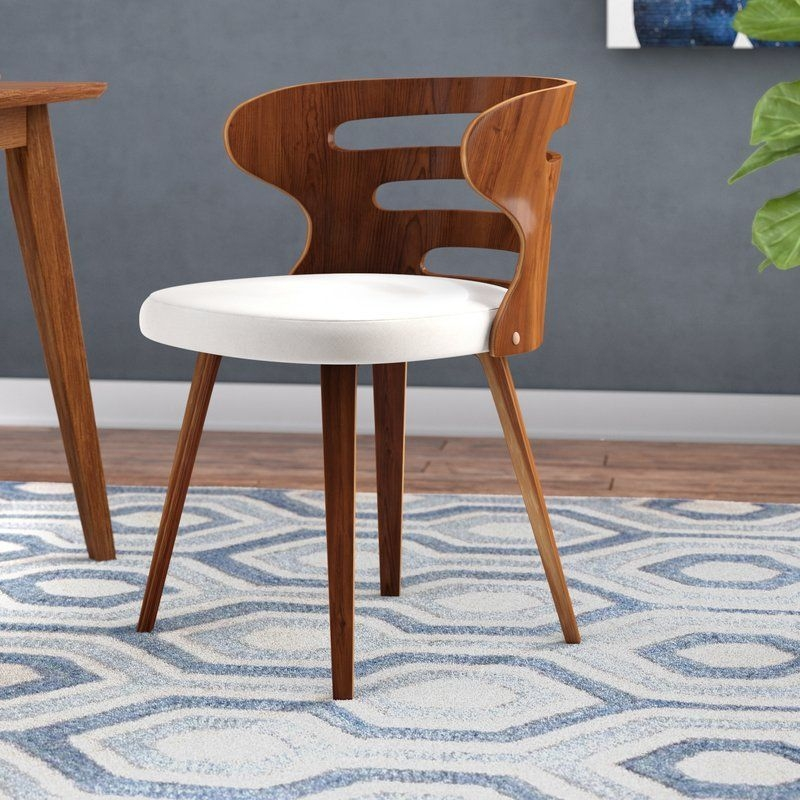 Wade Logan Baehr Midcentury Modern Upholstered Dining Chair  Reviews  Wayfair In 2019