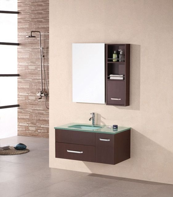 Wall Mounted Vanities  Contemporary  Bathroom Vanities And Sink Consoles  Chicago