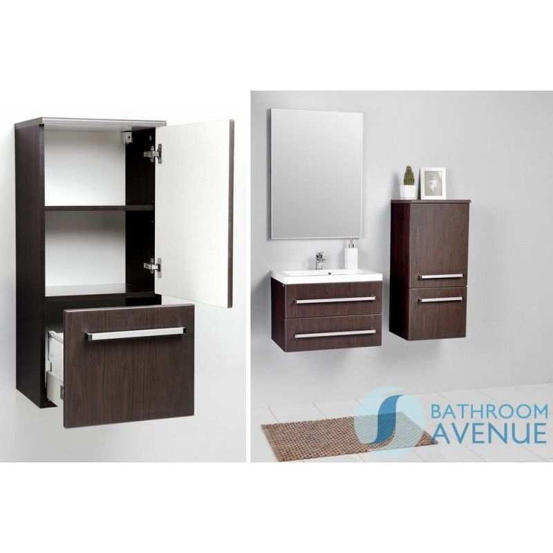 Wenge Modern Bathroom Wall Cabinet Francesca  Wenge Bathroom Storage Unit