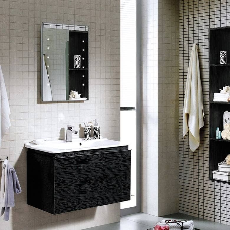 Why Pure Black  Silver Wall Mounted Bathroom Cabinet With Drawers  Orchid Seriesqueenswood